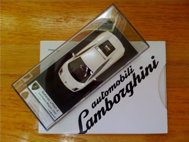Lamborghini press kit schwag