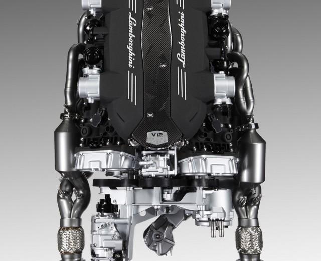 Lamborghini Aventador's 6.5-liter V-12 and ISR transmission