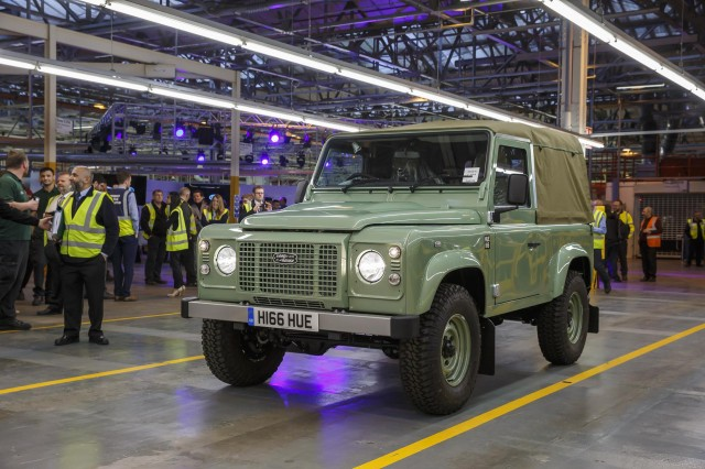 Last Land Rover Defender is built at famous Solihull plant in the United Kingdom - January 29, 2016