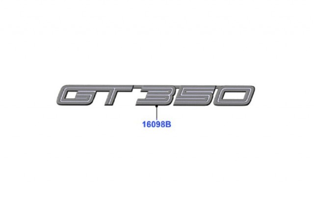 Leaked 2016 Ford Mustang GT350 badge. Image via Mustang6G.com.