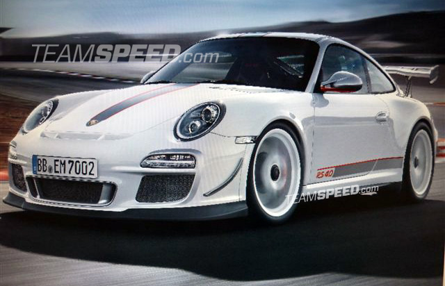 Leaked image of Porsche 911 GT3 RS 4.0 via Teamspeed.com