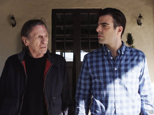 Leonard Nimoy & Zachary Quinto in a commercial for the Audi S7