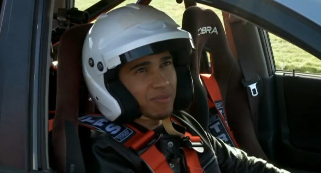 Lewis Hamilton drives Top Gear's Suzuki Liana