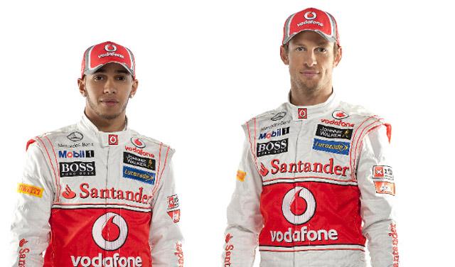 Lewis Hamilton (left) and Jenson Button