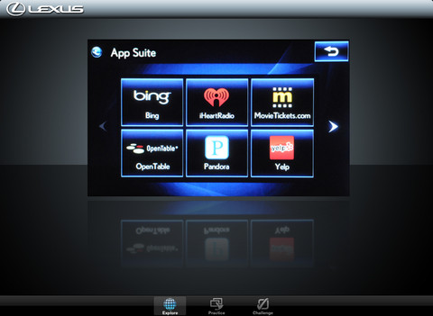 Lexus Enform Emulator iPad app