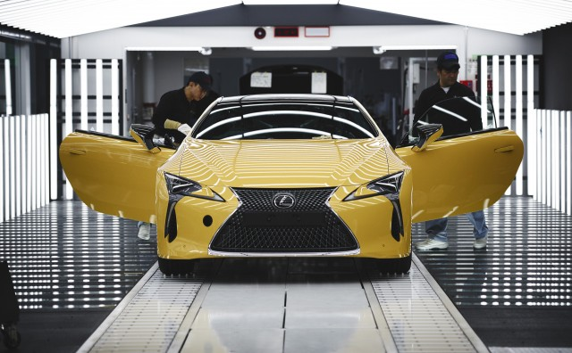 Lexus LC production at Toyota Motomachi Plant in Aichi, Japan