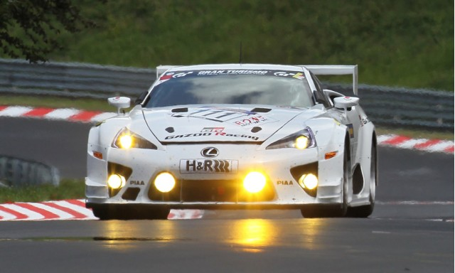 Lexus LFA race car at the Nurburgring