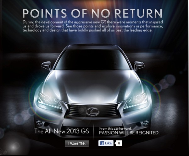 Lexus Points Of No Return Facebook Application