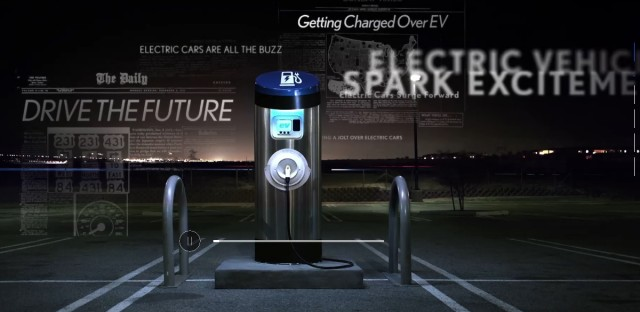 Frame from Lexus video criticizing electric car, May 2014
