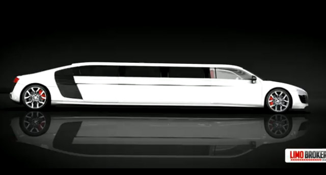 British Firm Previews New Audi R8 Stretch Limo: Video