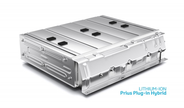 Lithium-ion battery from the 2012 Toyota Prius Plug-In Hybrid