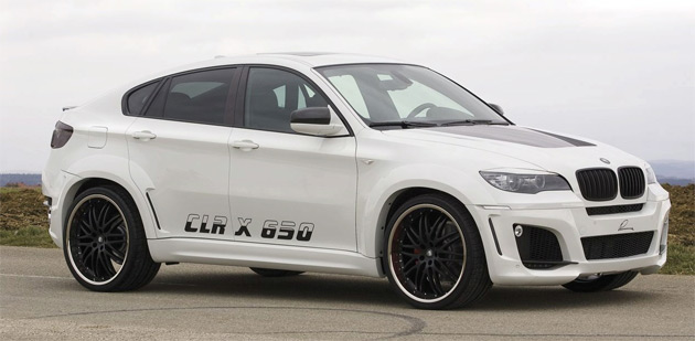 Lumma's wide-bodykit for the X6 adds an extra 2in (5cm) of girth to both sides of the SUV
