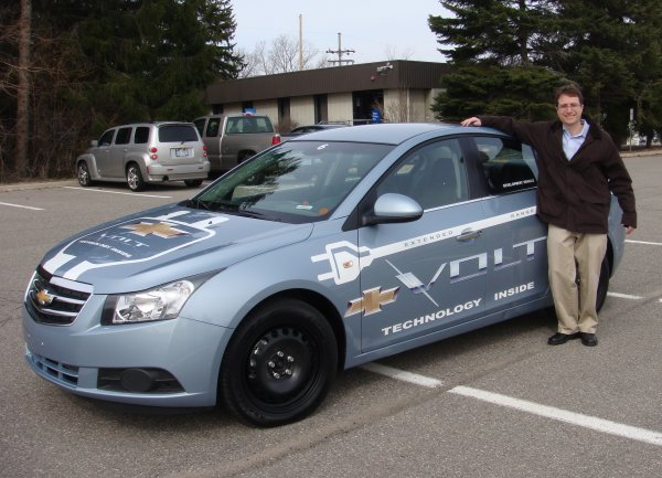 Lyle Dennis with the Chevy Volt Test Mule