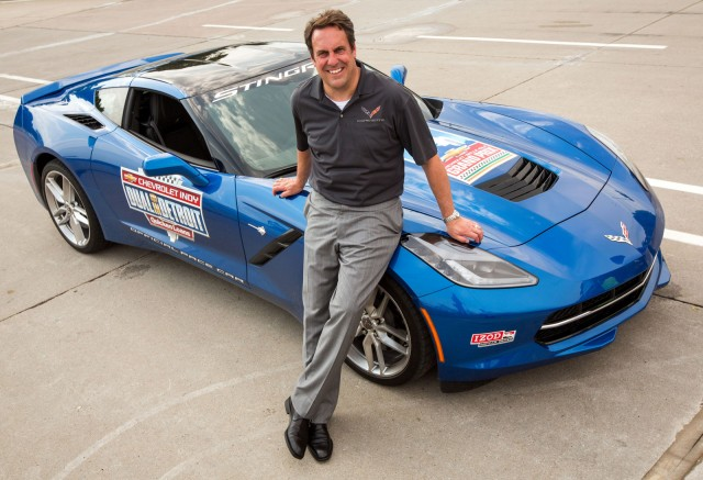 Mark Reuss and the 2014 Chevrolet Corvette Stingray Pace Car