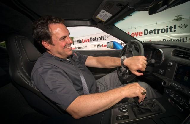 Mark Reuss and the 2014 Chevrolet Corvette Stingray Pace Car