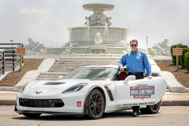 gm product chief mark reuss to pace 2015 indycar detroit grand prix in a corvette z06. Black Bedroom Furniture Sets. Home Design Ideas