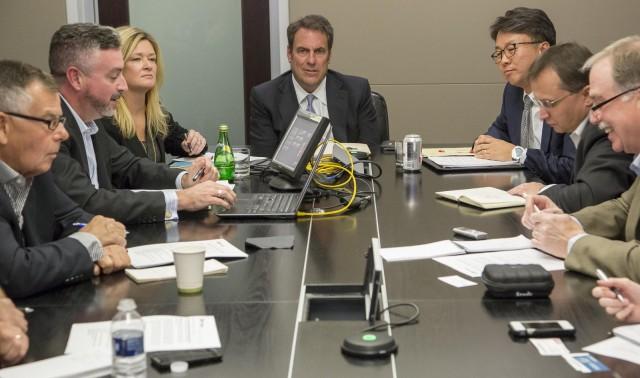 Mark Reuss discusses GM-LG Chem partnership on Bolt EV electric car [photo: Jeffrey Sauger for GM]