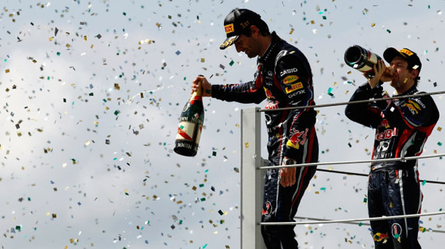 Mark Webber and Sebastian Vettel - Image courtesy of Red Bull Racing