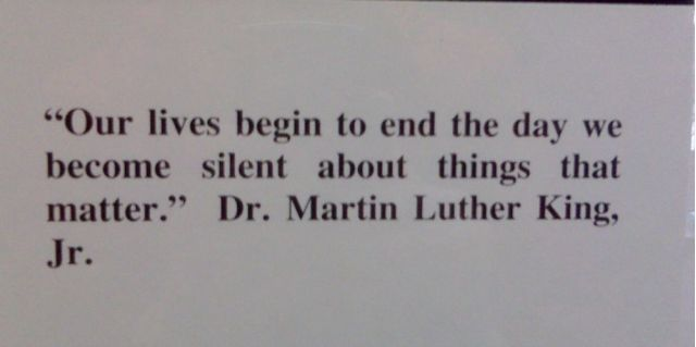 Martin Luther King, Jr. statement