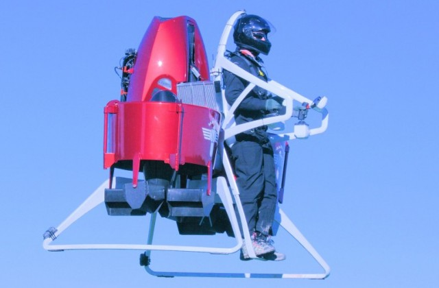Martin P12 jet pack prototype flying.