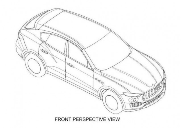 Maserati Levante patent drawings