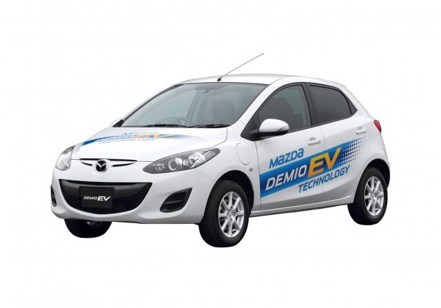 Mazda Demio EV test-fleet electric car in Japan (aka Mazda2)