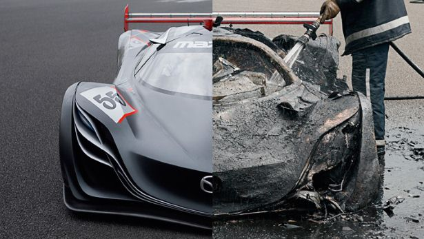 Mazda Furai burned - Image via Top Gear