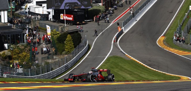 McLaren at the 2013 Formula One Belgian Grand Prix