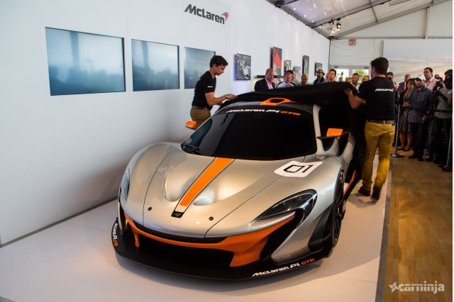 McLaren P1 GTR at the 2014 Pebble Beach Concours d'Elegance (Image via CarNinja)