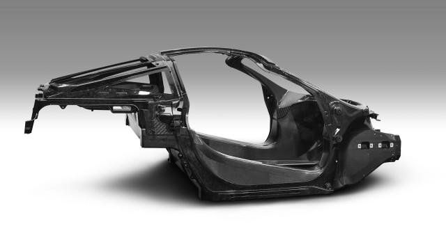 McLaren Monocage II carbon fiber monocoque structure