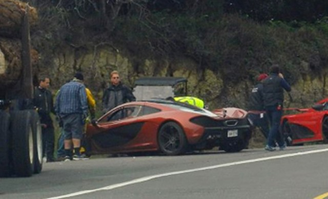 McLaren P1 on the set of upcoming Need For Speed movie