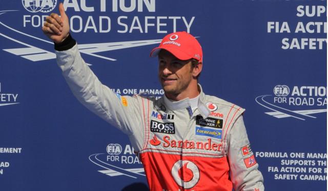 McLaren's Jenson Button at the 2012 Formula 1 Belgian Grand Prix