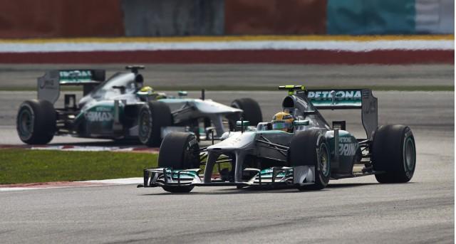 Mercedes AMG at the 2013 Formula 1 Malaysian Grand Prix