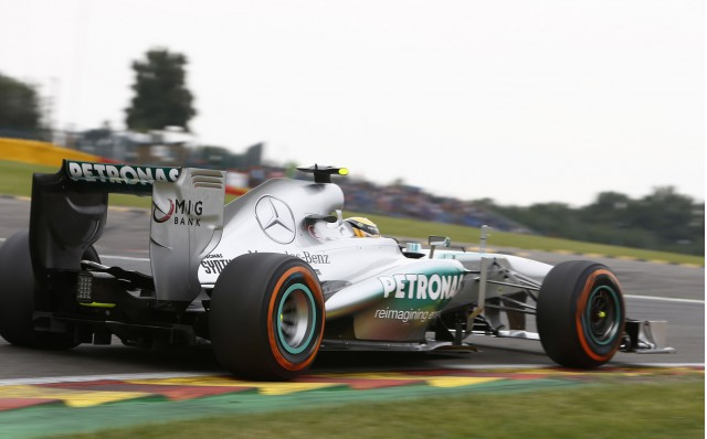 Mercedes AMG at the 2013 Formula One Belgian Grand Prix