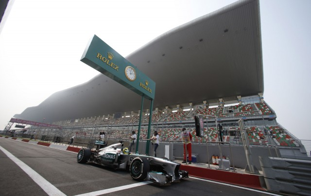 Mercedes AMG at the 2013 Formula One Indian Grand Prix