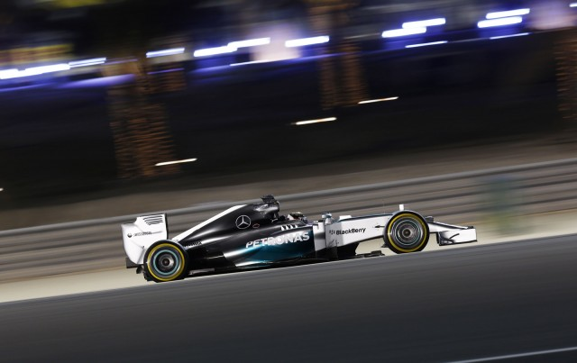 Mercedes AMG at the 2014 Formula One Bahrain Grand Prix