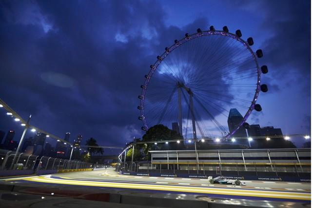 Mercedes AMG at the 2014 Formula One Singapore Grand Prix