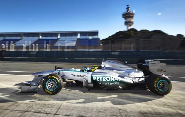 Mercedes AMG's 2013 Formula One race car, the W04