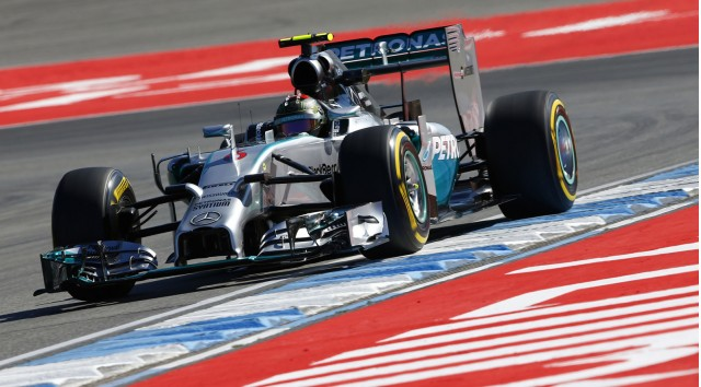 Mercedes AMG's Nico Rosberg at the 2014 Formula One German Grand Prix