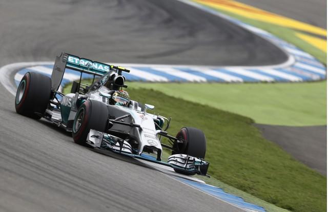 Mercedes AMG's Nico Rosberg at the 2014 Formula One Hungarian Grand Prix