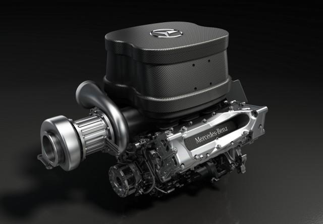 Mercedes AMG's turbocharged V-6 for the 2014 Formula One season