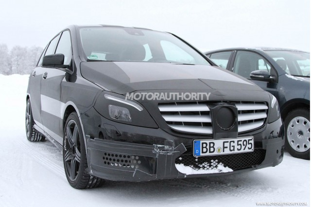 2013 Mercedes-Benz B Class AMG spy shots