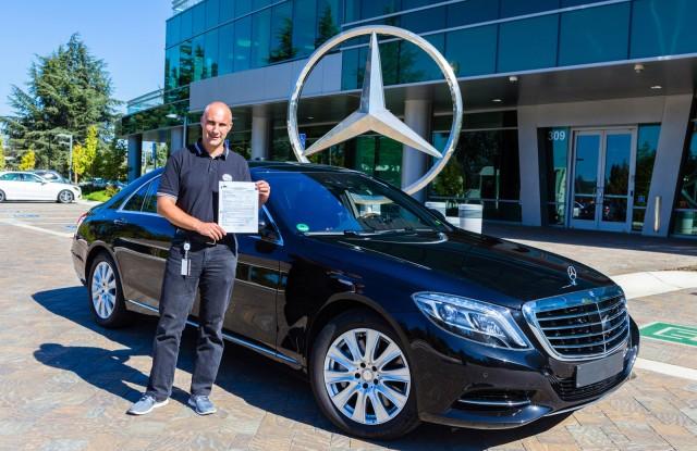 mercedes benz receives autonomous car license for california