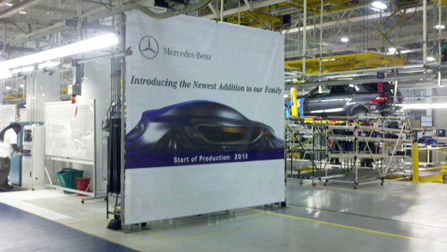 Mercedes-Benz teases new crossover at plant presentation in Tuscaloosa, Alabama