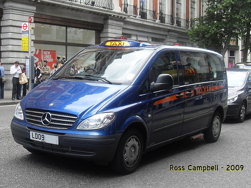 Mercedes-Benz Vito taxi from Eco City Vehicles PLC, from Flickr user Ross Campbell