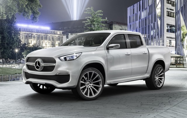 2018 mercedes benz x class spy shots for Mercedes benz pickup truck