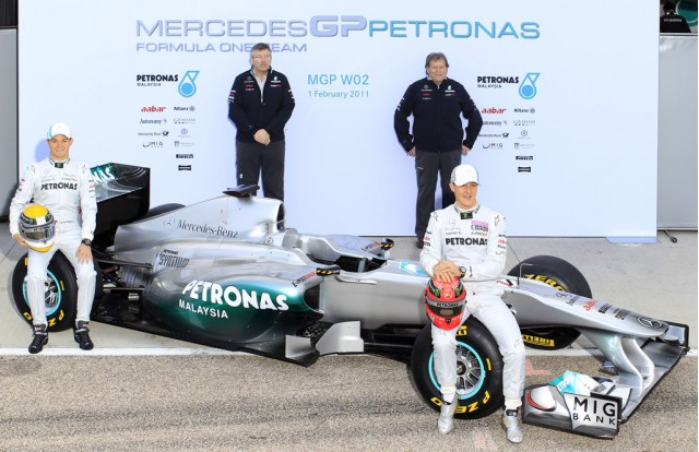 Mercedes GP W02 2011 Formula 1 race car