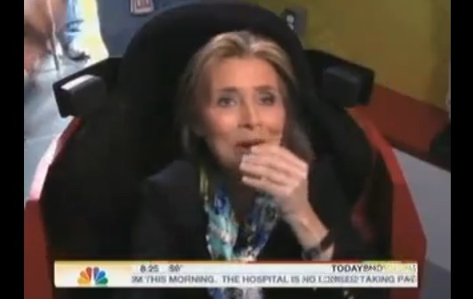 Meredith Vieira takes a texting and driving challenge on the Today Show