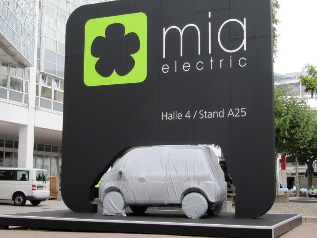 Mia electric microbus at Frankfurt Motor Show, September 2011