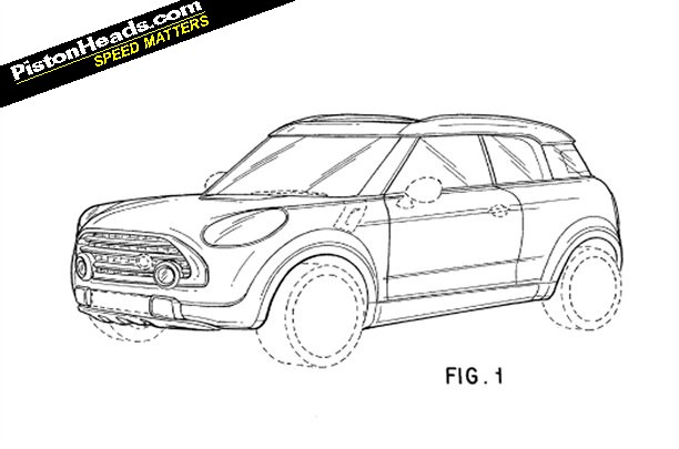 MINI Crossman patent drawing [via PistonHeads]